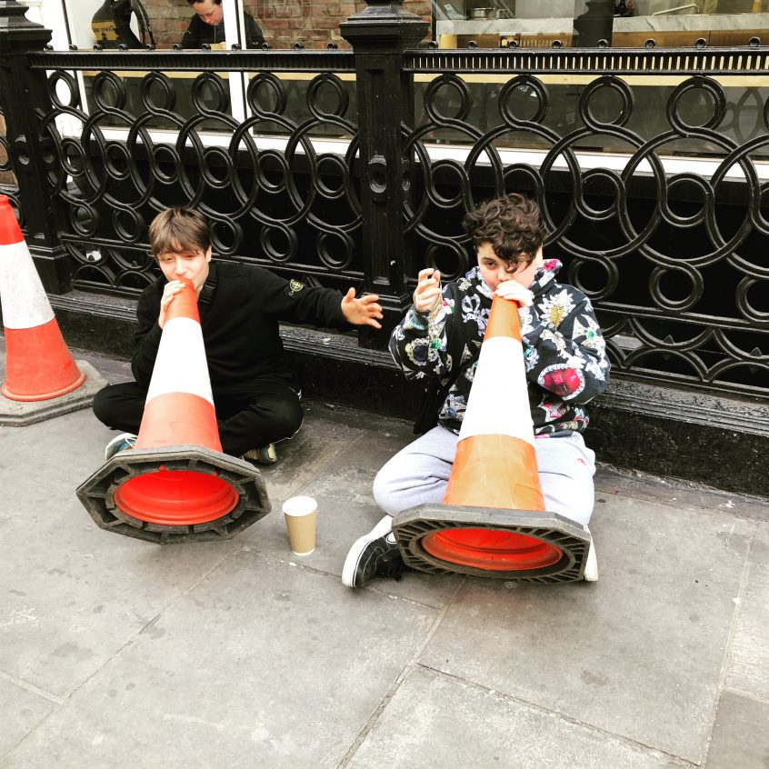 Traffic cone sing a long